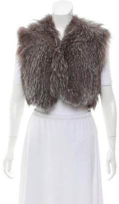 Fur Knitted Fox Vest