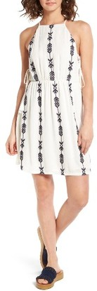 Women's Lush Side Tie Embroidered Apron Dress $49 thestylecure.com