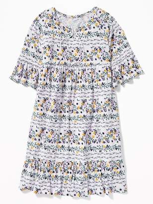 Old Navy Tiered Bell-Sleeve Swing Dress for Girls