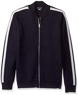 French Connection Men's Lakra Zip Through Knit