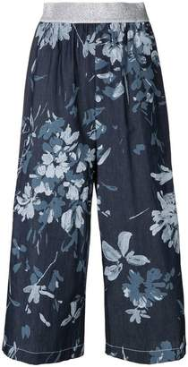 I'M Isola Marras cropped floral print trousers