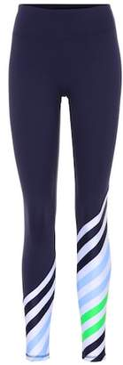 Tory Sport Diagonal-striped leggings