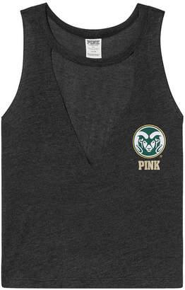 PINK Colorado State University Choker Neck Muscle Tank