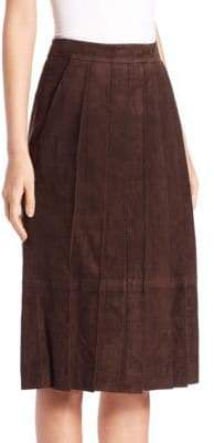 Pauw Pleated Suede Skirt