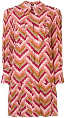 Elisabetta Franchi geometric shirt dress