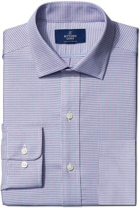 Buttoned Down Men's Classic Fit Spread-Collar Small Geo Non-Iron Dress Shirt, Pink/Blue, 16 35