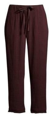 Eileen Fisher Women's Organic Cotton Cropped Drawstring Pants - Casis - Size XXS