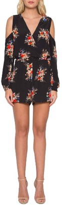 Women's Willow & Clay Floral Cold Shoulder Romper $79 thestylecure.com
