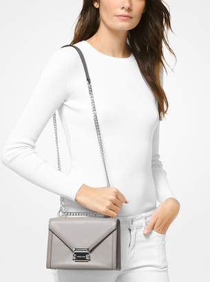 MICHAEL Michael Kors Whitney Small Two-Tone Leather Convertible Shoulder Bag 88df65f521