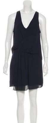 Elizabeth and James Pleated Mini Dress Navy Pleated Mini Dress
