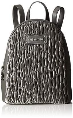 Love Moschino Borsa Fabric Grigio, Women's Backpack Handbag, Grau (), (B x H T)