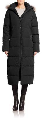 Canada Goose Mystique Fur-Trimmed Long Parka $995 thestylecure.com