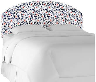 One Kings Lane Sandie Curved Headboard - Blush Floral Linen