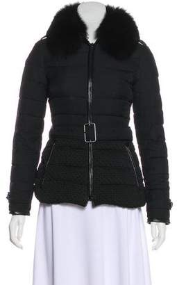 Burberry Fox-Trimmed Down Jacket