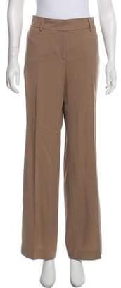 Akris High-Rise Twill Pants Khaki High-Rise Twill Pants