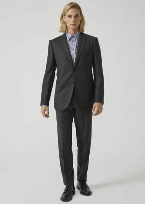 Emporio Armani Modern Fit Suit In Virgin Wool With A Single-Breasted Jacket