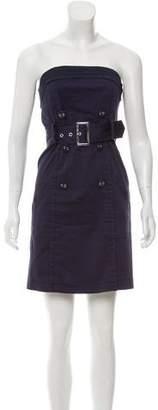 Philosophy di Alberta Ferretti Strapless Belted Dress