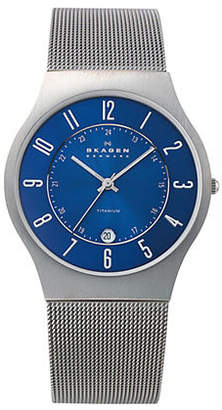 Skagen Grenen Steel Mesh and Titanium Case Watch