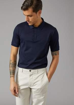 Giorgio Armani Polo Shirt In Stretch Jersey