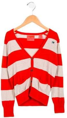 Scotch Shrunk Boys' Striped Button-Up Cardigan