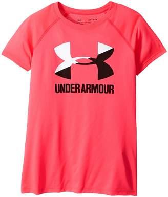 Under Armour Kids UA Solid Big Logo Short Sleeve Tee Girl's T Shirt