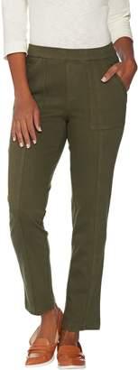 Isaac Mizrahi Live! Tall Knit Denim Pull-On Ankle Jeans