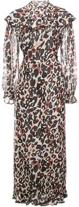 Sonia Rykiel long leopard print dress