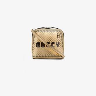 8110764ebdfa Gucci gold tone Guccy mini leather shoulder bag