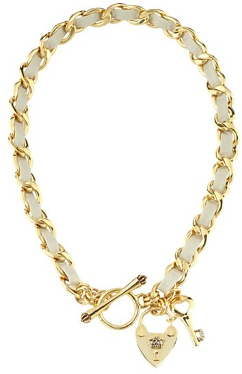 Juicy Couture Leather Toggle Necklace