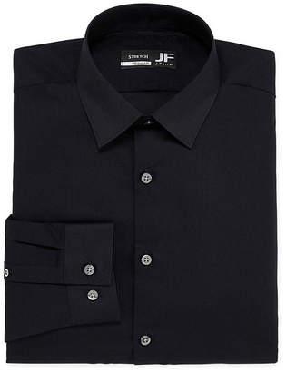 Jf J.Ferrar Easy-Care Stretch Solid Long Sleeve Broadcloth Dress Shirt