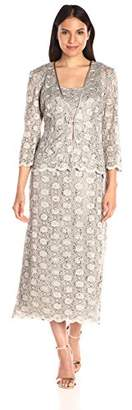 R & M Richards R&M Richards Women's 2 Piece Lace Swing Jacket Dress