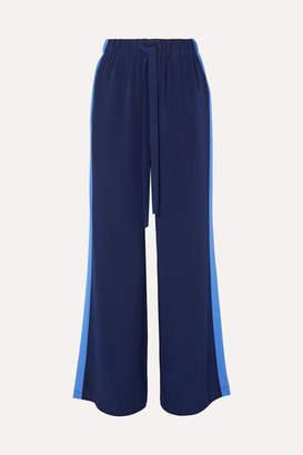 Diane von Furstenberg Ellington Striped Silk-crepe Wide-leg Pants