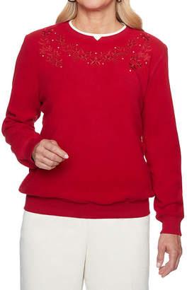 Alfred Dunner Classics Long Sleeve Sweatshirt