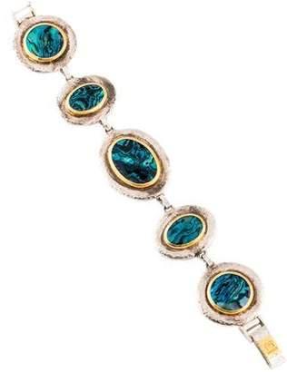 Gurhan Two-Tone Abalone Shell Link Bracelet