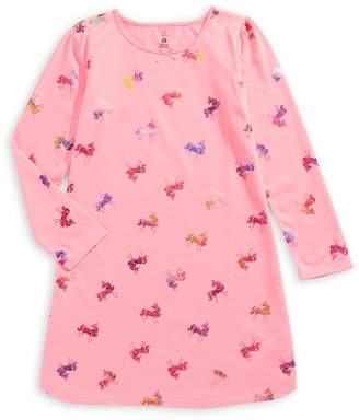 Petit Lem Little Girl's Unicorn Night Gown
