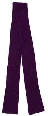 Maison Margiela Rib Knit Scarf Purple Rib Knit Scarf