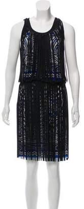 Jean Paul Gaultier Printed Midi Dress Black Printed Midi Dress