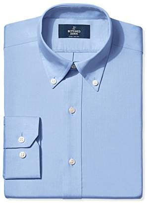 Buttoned Down Men's Fitted Solid Non-Iron Dress Shirt (3 Collars Available)