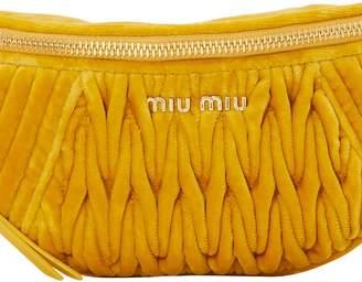 Miu Miu Velvet matelasse belt bag