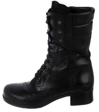 Prada Sport Lace-Up Combat Ankle Boots