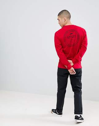 Vans Established 66 Long Sleeve T-Shirt In Red Va3h7b14a