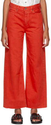 Simon Miller Red Slided Jeans