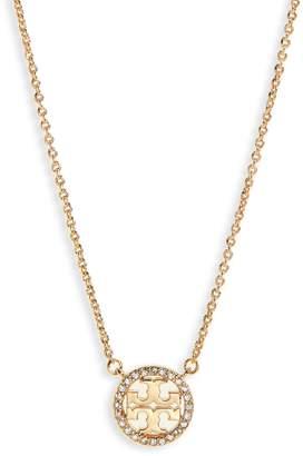 Tory Burch Pave Logo Pendant Necklace