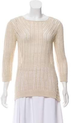 Diane von Furstenberg Crocheted Crew Neck Sweater