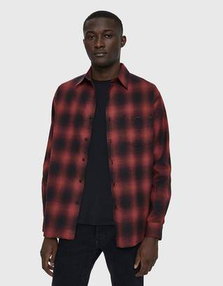 Need Flannel Button Up Shirt in Gradient Red