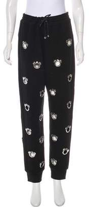 Nicopanda Embellished High-Rise Sweatpants