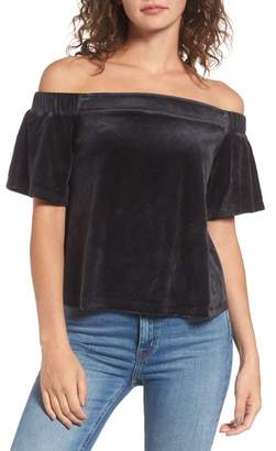 Juicy Couture Velour Off the Shoulder Top