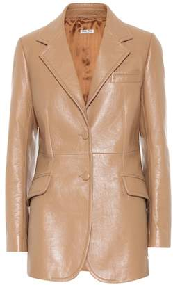 Miu Miu Leather blazer