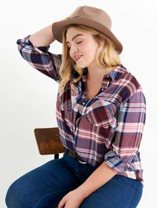 Lucky Brand BACK PLACKET PLAID