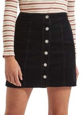 Miss Selfridge Ribbed Corduroy A-Line Skirt